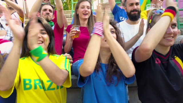 Fans support their own team video