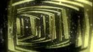 Fantastic Gold and Wood Broken Tunnel With Particles Seamless Looping Background video