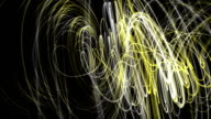 Fantastic particle wave object in slow motion, loop HD video