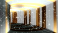 Fantastic Pure Gold and White Tunnel With Particles Seamless Looping Background video