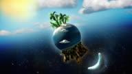 Fantasy Earth, Moon and Sun [HD] video