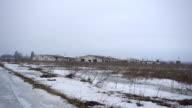 Farm from far away in winter video
