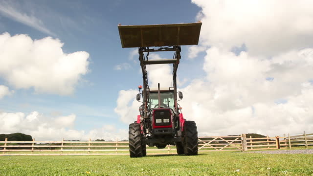 Farm Tractor riding over camera (Agriculture) video