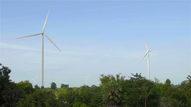 Farm wind turbine. video
