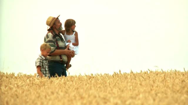HD: Farmer And His Grandchildren video