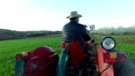 Farmer ckecking his land video