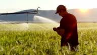 Farmer Examines Crop video