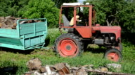 farmer tractor firewood video