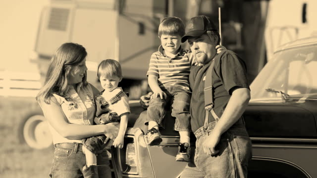 Farmer with family video