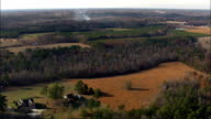 farming landscape - Aerial View - North Carolina,  Wake County,  United States video