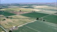 Farmland - Aerial View - Montana, Big Horn County, United States video