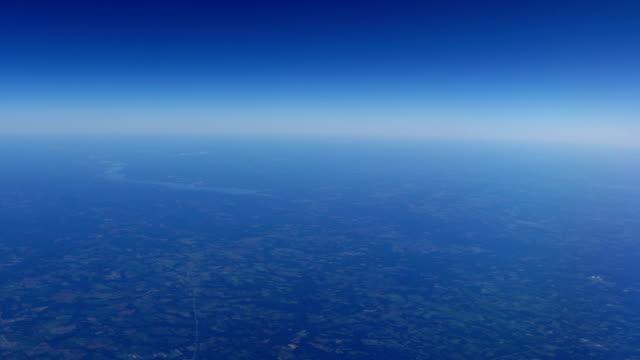 Farmland below Earth's atmosphere video
