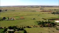 farmland west of Bloemfontein - Aerial View - Orange Free State,  Mangaung Metropolitan Municipality,  Mangaung,  South Africa video