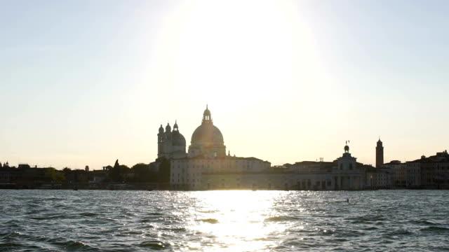 Fascinating view of Roman Catholic church Santa Maria Della Salute, Italy video