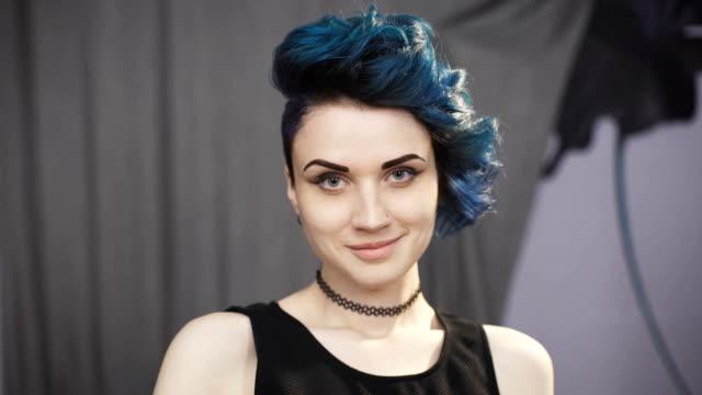Fashion Art Girl Portrait. Punk Style video
