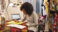 Fashion designer drawing video