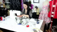 Fashion Designer working in studio video