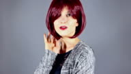 Fashion Model With New Hairstyle or Red Hair Color video