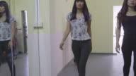 Fashion school lesson, people, women, models, girls modeling, runway training video