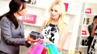 Fashionable Female Spending Fashion Outlet video