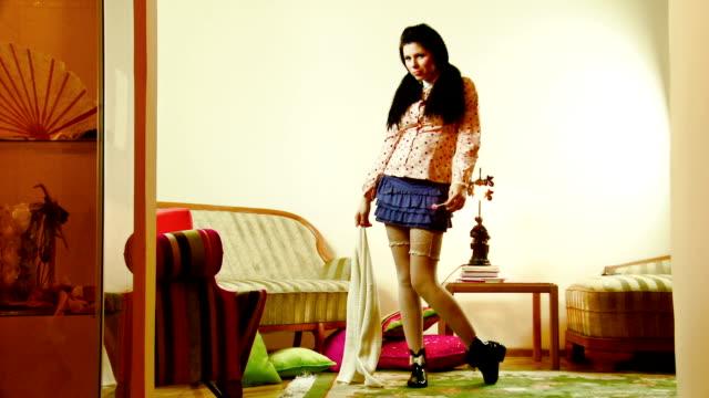 Fashionable girl video