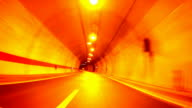 Fast Car Driving through tunnel video