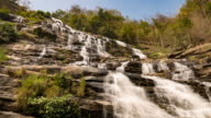 Fast flowing stream and water fall video