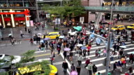 Fast forward of the busy Taipei downtown, Taiwan, China video