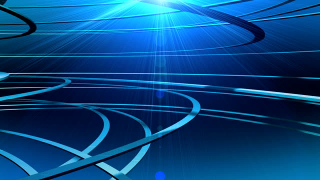 Fast Motion 3D Graphic Curves Abstract Animation video
