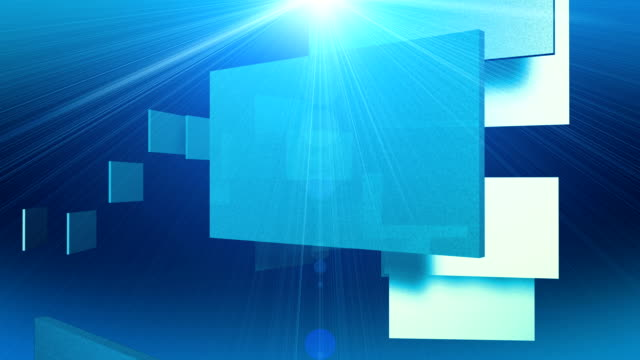 Fast Motion 3D Graphic Squares Abstract Animation video