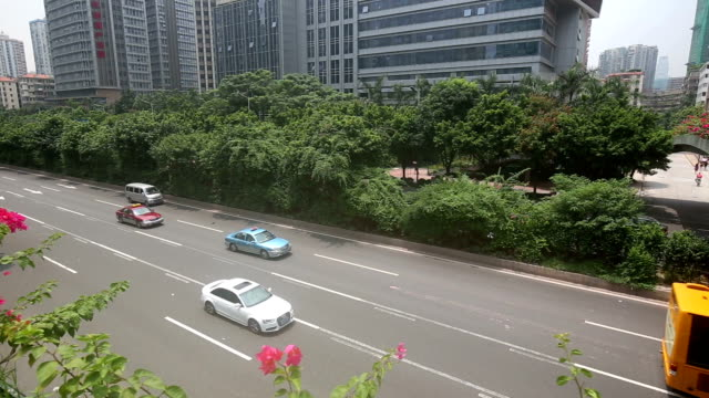 Fast Motion - City Traffic in Guangzhou video