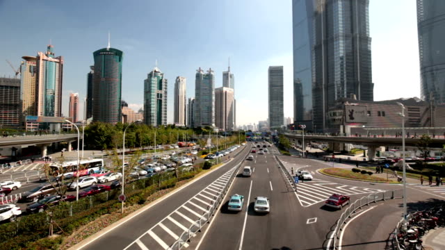 Fast Motion - City Traffic in Shanghai video