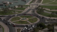 Fast motion of traffic car by day in Doha, Qatar video