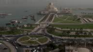 Fast motion,Museum of Islamic Art,traffic car,Doha, Qatar video
