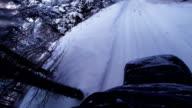 fast Snowmobile POV Back View video