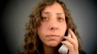 Fast Talking  Woman on  Phone. video