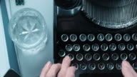 DS fast typewriting behind an old office desk video