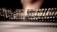 Fast typing. Dexterity in typewriting. video
