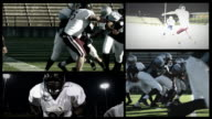 Fast-moving football collage video