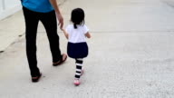 Father And Daughter Walk togerther video