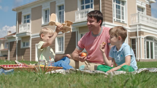 Father and Kids on a Picnic video