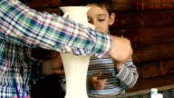father and son paint colors vase video