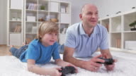 HD DOLLY: Father And Son Playing Video Games video