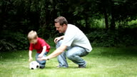 Father and Son Playing video
