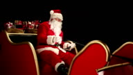 Father Christmas driving his sleigh video