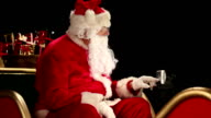 Father Christmas using a Sat Nav GPS system video