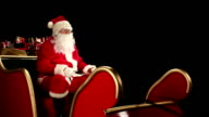 DOLLY HD: Father Christmas waving from his Sleigh video