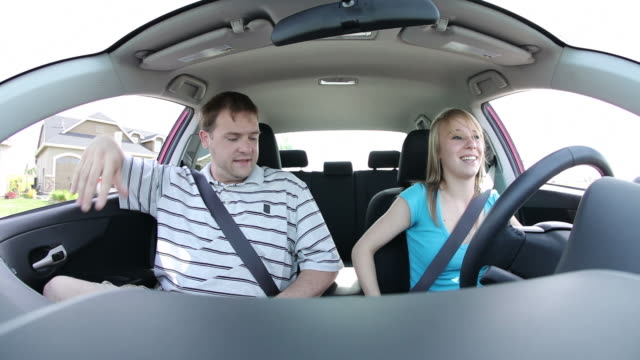 Father frightened by daughters driving video