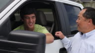 Father gives son keys to truck video