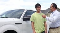 Father hands son keys to truck video